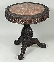 Chinese Carved Wood Center Table
