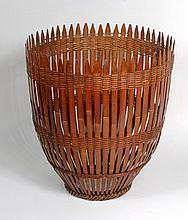 Large Chinese Woven Fishcatcher Basket
