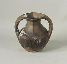Chinese Neolithic Amphora Black Pottery Vase