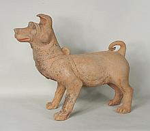 Chinese Pottery Figure of  Dog