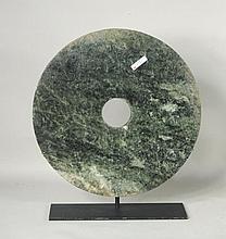 Large Chinese Nephrite Jade Bi Disc