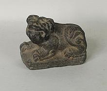 Chinese Carved Stone Figure of Dog