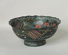 Japanese Large Bronze Cloisonne Bowl