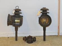 Pair Vintage Coach Lanterns, Other Items