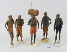 Group Five Possibly North African Clay Figures