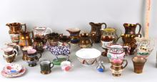 Large Estate Group Porcelain Lustre Items
