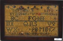 Small Framed American Sampler