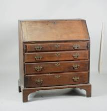 Chippendale Cherry Slant Front Desk