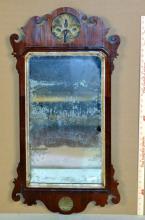 Period Queen Anne Mahogany Mirror
