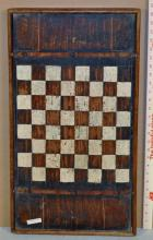 American Folk Art Country Painted Gameboard