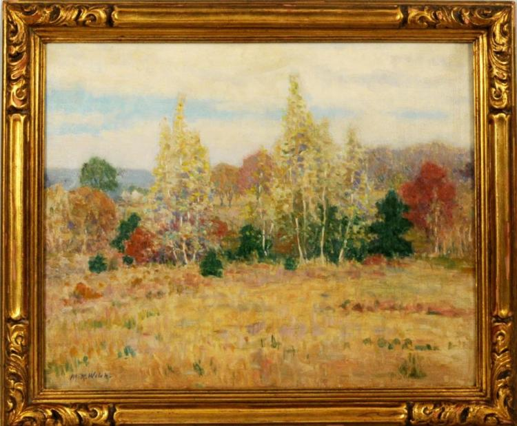 Mabel R. Welch, Autumn Woodland Landscape