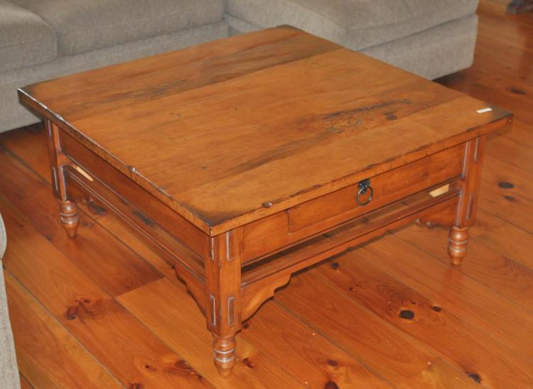 Square Wooden Country Style Coffee Table