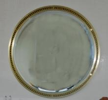 Lorin Marsh Steel/Brass Large Convex Mirror