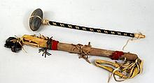 Native American Stone Club & Dance Stick