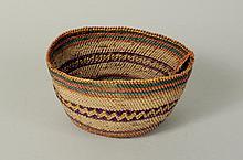 Northwest Coast Woven Aniline Dyed Basket