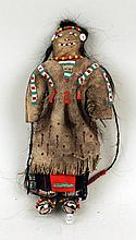 Sioux Beaded Hide and Cloth Doll