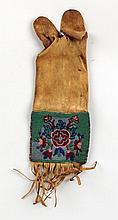 Cree Beaded Hide Peace Pipe Bag