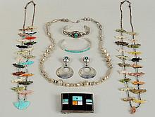 Group Seven Native American Jewelry Items