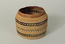 Finely Woven Northwest Coast Patterned Basket