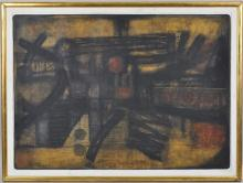 Eduardo Tamariz, Abstract Oil on Baimbridge Board