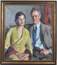 """Louis Betts, """"Portrait of a Couple"""" O/C"""