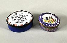 Two Battersea Enamel Boxes