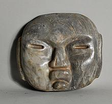 Mexican Mayan Style Carved Onyx Mask