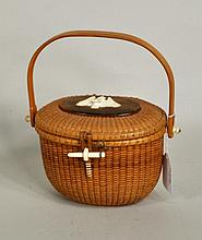 Vintage Nantucket Friendship Purse Basket