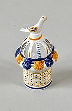 Rare Staffordshire Porcelain Bird Feeder