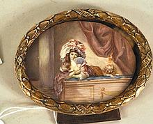 French School, Painting on Ivory
