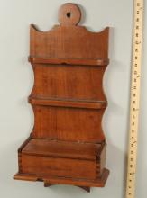 Rare American Carved Fruitwood Spoon Rack