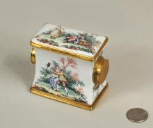 Unusual Continental Gilt & Enameled Container