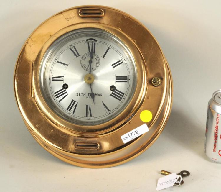 Seth Thomas Nautical Clock, With Key
