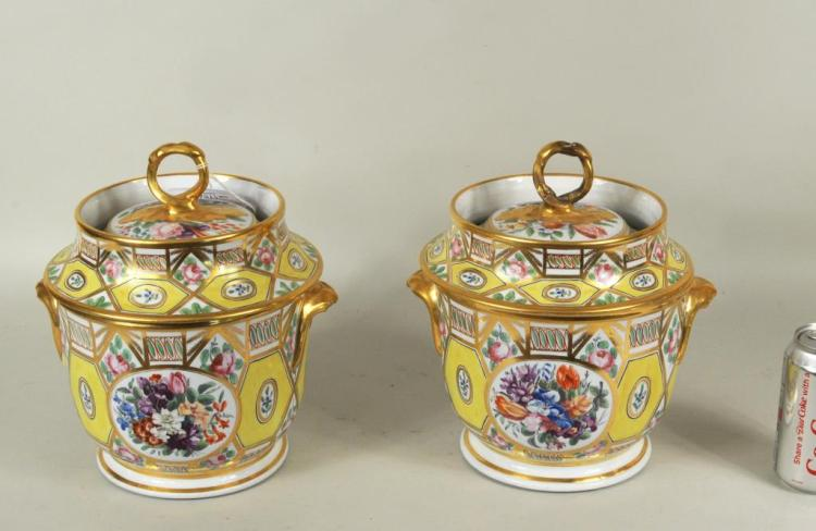Pair English Regency Coalport Ice Cream Coolers