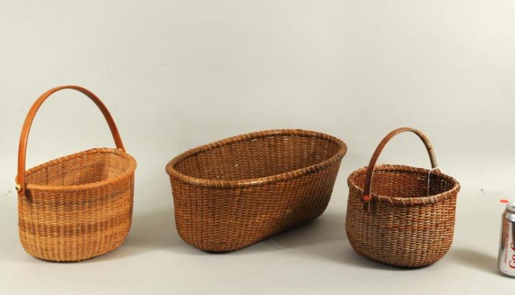 Group Three Vintage Nantucket Baskets