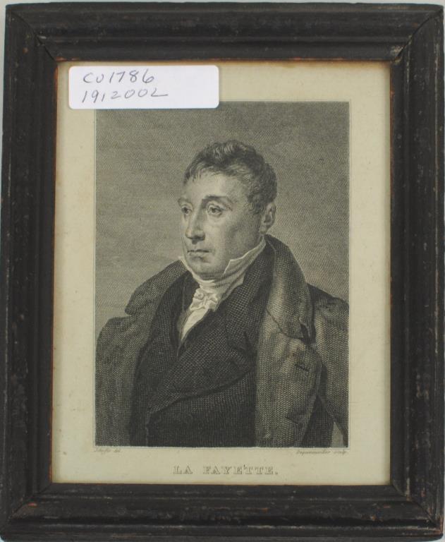 Framed Engraving of Lafayette