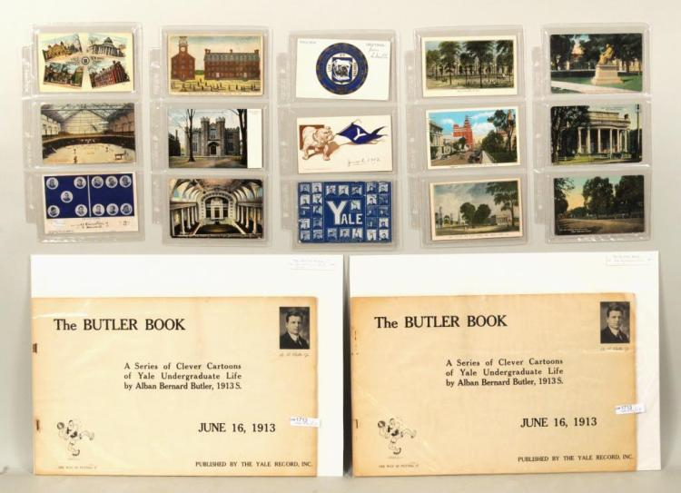 Group Vintage Yale Postcards, 2 Issues Butler Book