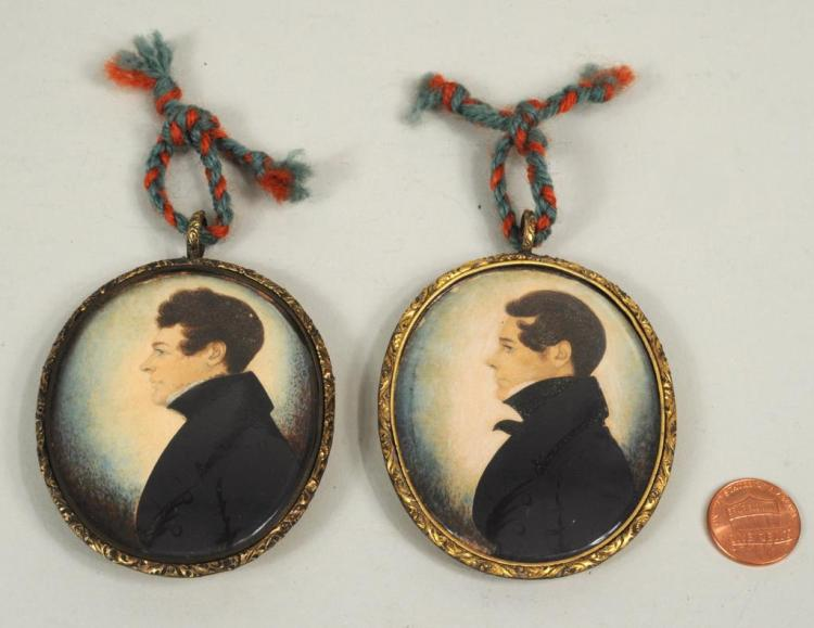 Attributed to J.H. Gillespie 2 Framed Miniatures