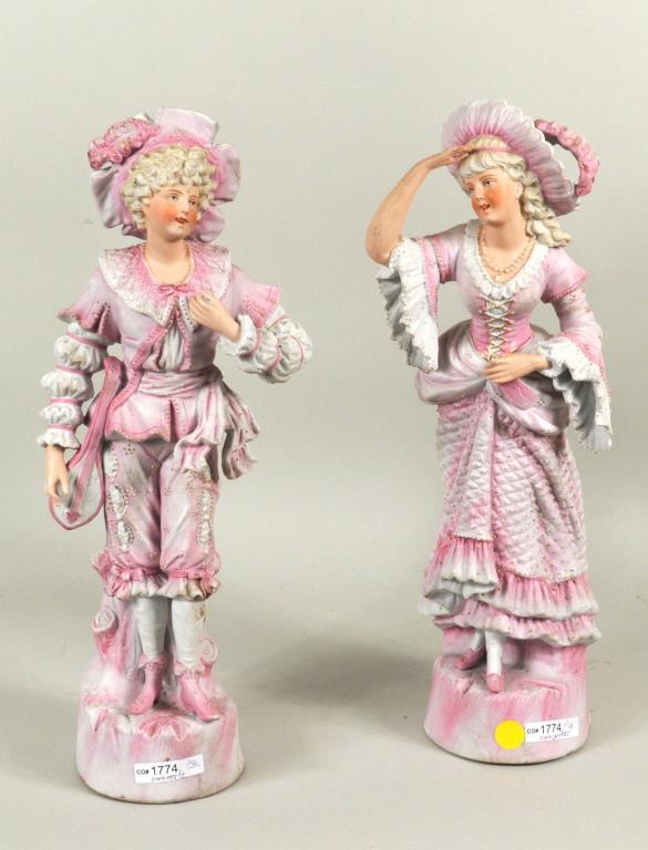 Pair Bisque Figures