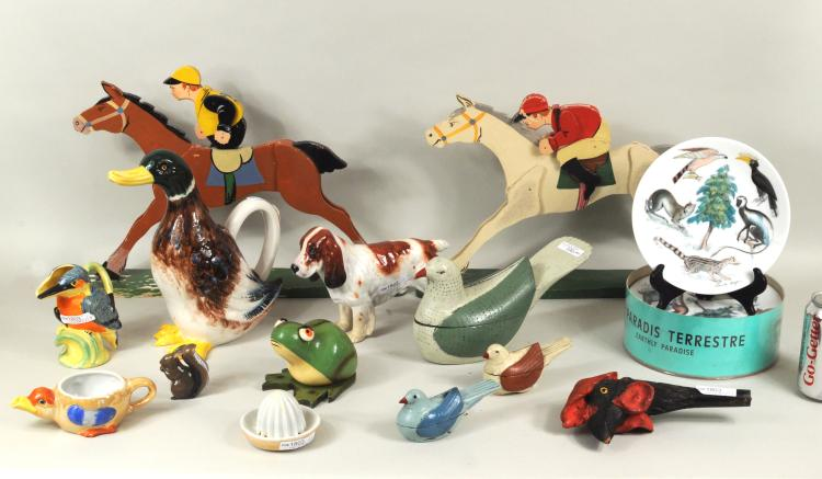 Group 13 Animal Related Wood & Porcelain Items