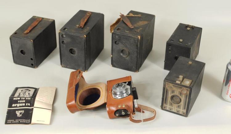 Six Vintage Cameras
