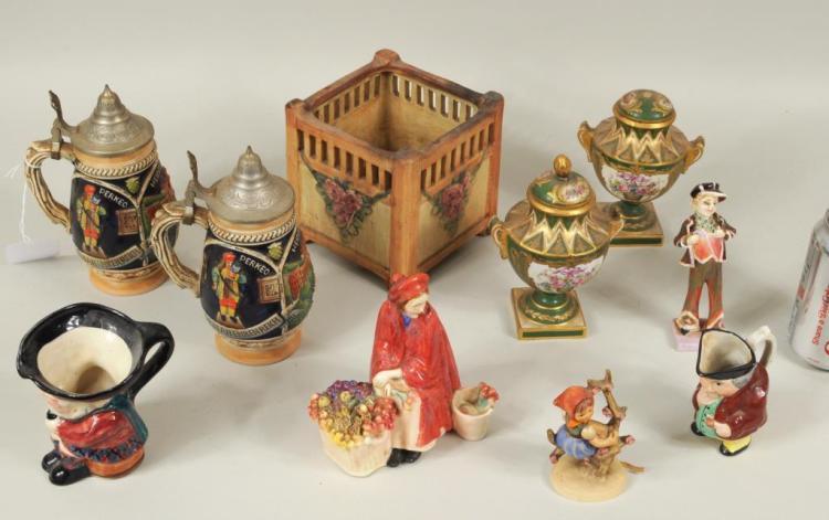 Ten Porcelain & Pottery Items