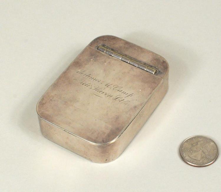 New Haven CT Inscribed Silver Trick Box