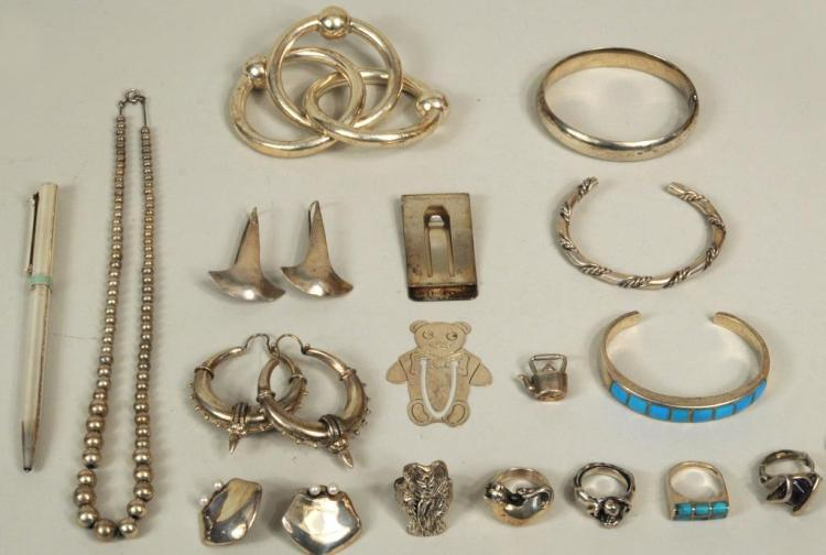 Group Sterling Silver Jewelry Items, Some Tiffany