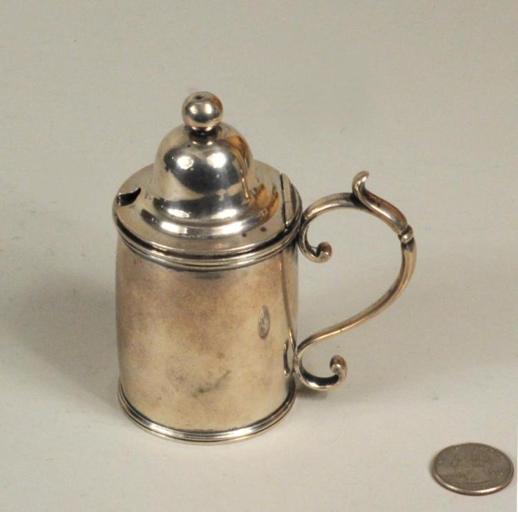 19th C. Albany Coin Silver Mustard Jar/Mug