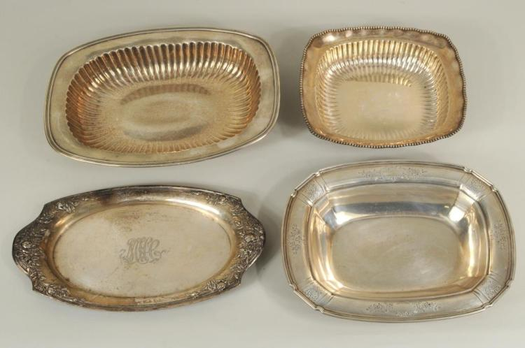 Four Sterling Silver Items, Three Bowls & Tray