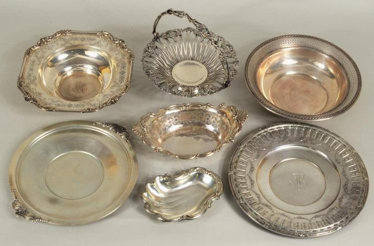 Group Six Sterling Silver Bowls & Trays