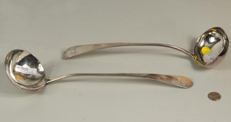 Two American Coin Silver Ladles