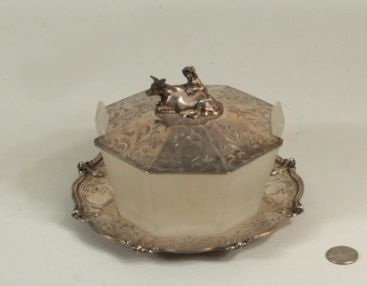 Geo. & John Angell English Silver Butter Tub