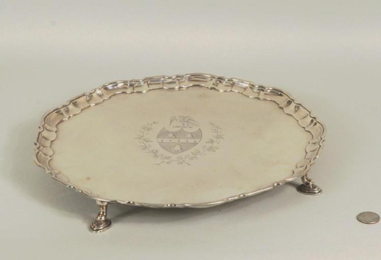 English Sterling Silver Salver, London 1739